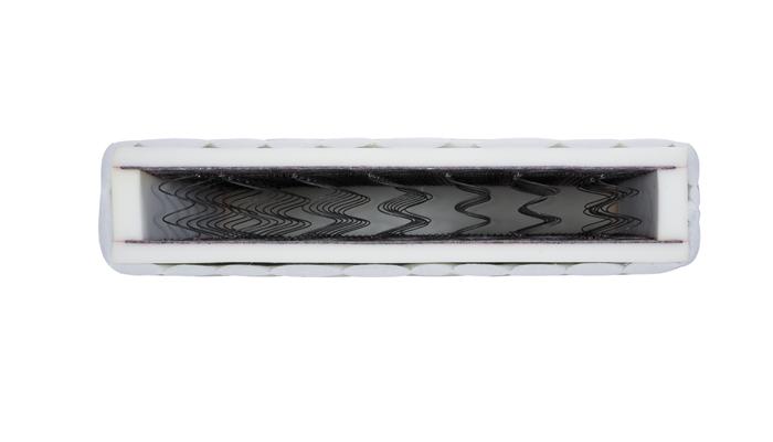 Pružinový matrac ALASKA, 70x200 cm. Vnútro je tvorené klasickými bonelli pružinami a polyuretánovou penou. Pretlačeniu pružín zamedzuje ochranná vrstva, ktorá je stužená. Pružinová výplň má výšku 11 cm a je obalená PUR penou hrúbky 3 cm, na ktorej je kvalitný poťah. Matrace sú doporučené k posteliam výrobcu Stolwit. Cena: 133 EUR