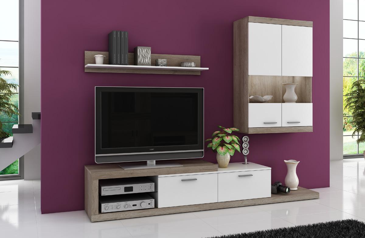 Malá obývacia stena KARMEN v modernom dizajne. Atraktívne spojenie farieb dub country a biela. Skrinky sú opatrené ABS hranou. Stena je vyrobená z LTD, ktoré je nenáročné na údržbu. Celkový rozmer steny je š/h/v 240 x 42 x 190 cm. Dodávame v demontovanom stave. LED osvetlenie nie je v cene, je možné ho dokúpiť.Stenu KARMEN ponúkame aj v druhej verzii. Ku stene je možné dokúpiť konferenčný stolík. Cena: 165 EUR