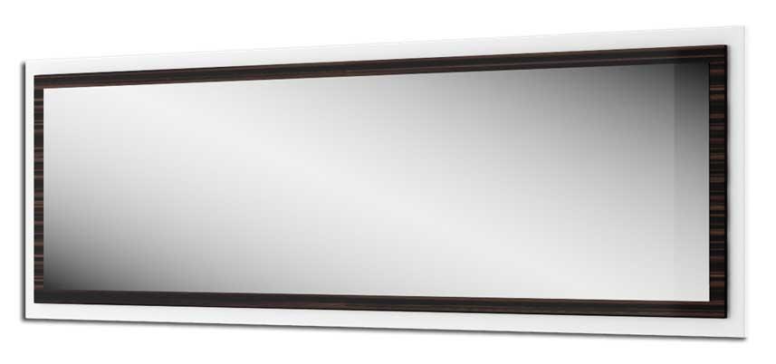 Elegantné dvojfarebné zrkadlo OSAKA KY-03 v tvare obdĺžnika. Rozmer (š/v/h) 152 x 50 x 3 cm. Zaujímavá kombinácia farieb biely lesk a zebrano wild tiež s leskom. Nábytok je vyrobený z LTD, ktoré sa jednoducho udržiava. OSAKA spálňa je vhodná do moderných interiérov, kde svojim farebným prevedením s leskom dodáva pocit vzdušnosti a elegantnosti. V tejto kolekcii je 6 elementov: skriňa, postele, zrkadlo, komoda, nočný stolík. Cena: 62 EUR