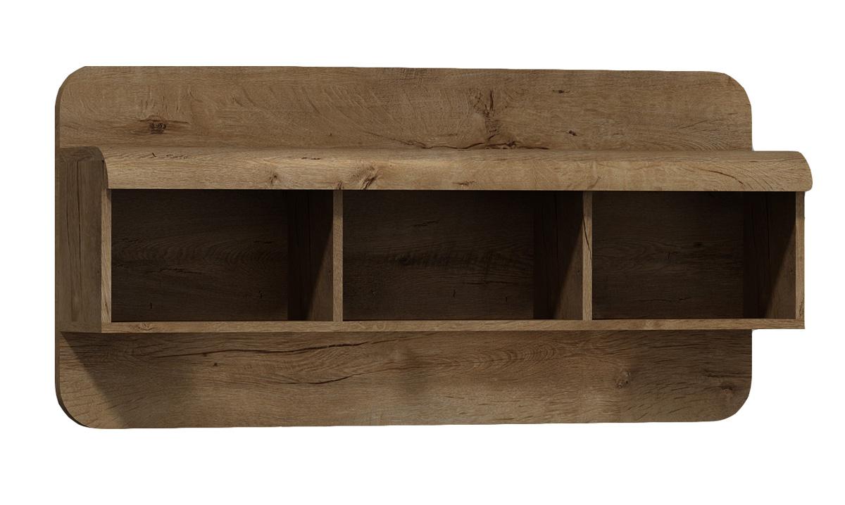 Polica z moderného sektorového nábytku LENKA v zaujímavom farebnom prevedení dub lefaks. Nábytok je vyrobený z lamina, ktoré je opatrené ABS, lišty MDF. Povrch lamina 3D. Rozmer š/h/v 120/25/56 cm. Dodávame v demontovanom stave. V sektore LENKA je na výber 10 elementov, z ktorých si môžete zostaviť originálnu obývačku. Cena: 40 EUR