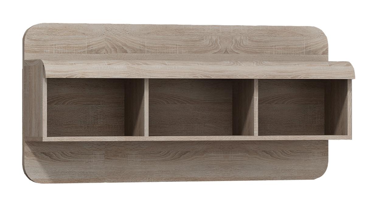 Polica z moderného sektorového nábytku LINA. Nábytok má trendové farebné prevedenie dub sonoma. Materiál lamino s ABS hranou, povrch nábytku 3D. Rozmer š/h/v 120/25/56 cm. Dodávame v demontovanom stave. Moderný sektor LINA pozostáva zo 16 samostatných produktov, z ktorých je možné zariadiť krásnu obývačku, jedáleň či spálňu. Cena: 37.9000 EUR