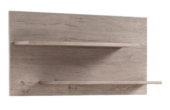 Polica POL1 zo sektoru HUGO. Nábytok je dostupný v 2 farebných prevedeniach: borovica bielená, dub san marino. Je vyrobený z kvalitného lamina. Rozmer 50 x 102 x 20 cm. Sektorový nábytok HUGO spája klasický štýl s moderným dizajnom. Na výber až 18 samostatných elementov, z ktorých si môžete zariadiť štýlovú obývačku či jedáleň. Cena: 29.6000 EUR