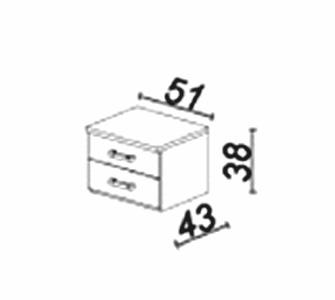 Nočný stolík vhodný k posteliam Memphis je novinkou od výrobcu Stolwit. Nočný stolík obsahuje dve zásuvky. Vyrobený je z laminovanej dosky, ktorá je kvalitná a nenáročná na údržbu.Farebné prevednie je Dub americký.Spolu s ostatnými časťami spálňového sektoru Memphis si môžete zostaviť spálňu svojich snov. Cena: 120.8000 EUR