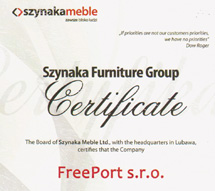 Szynaka certifikát