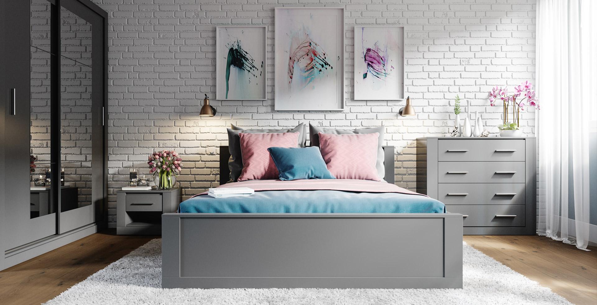 IDEAL spálňa, sivá