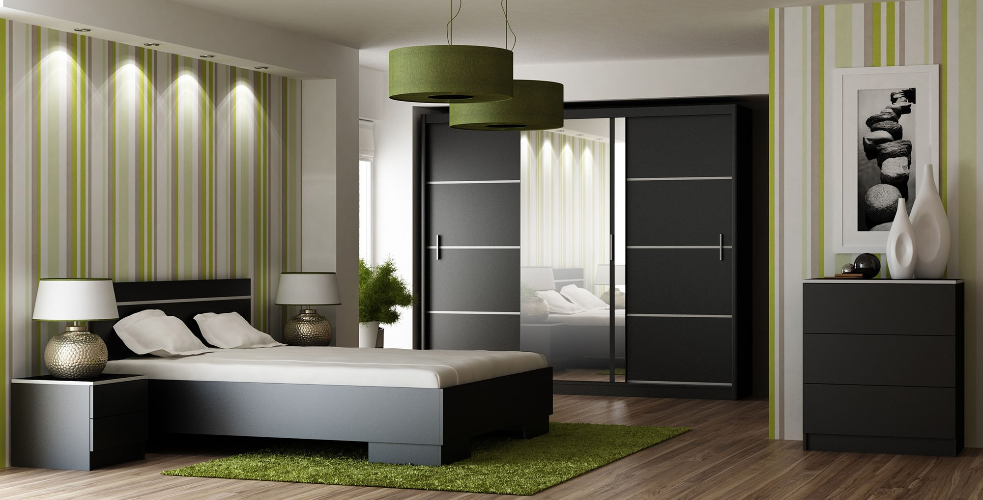 VISA spálňa, čierna