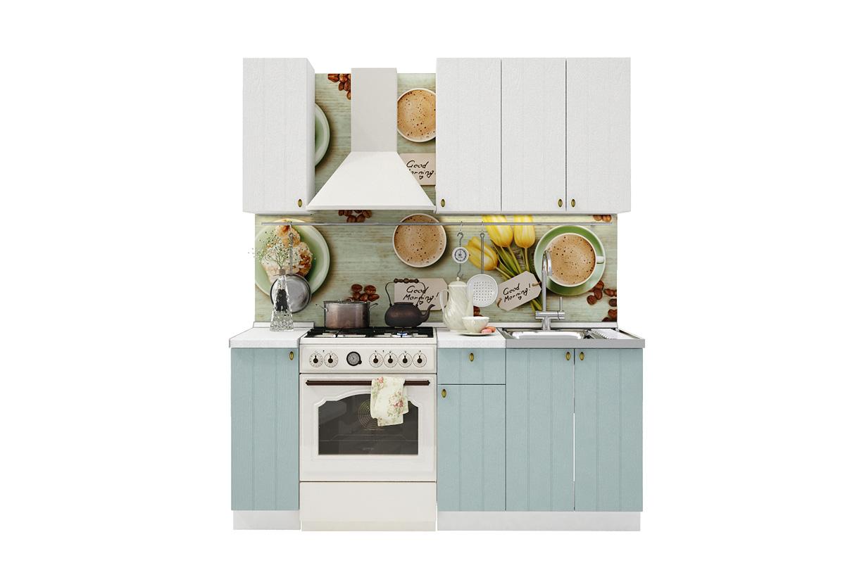 PROVENSAL 120 kuchynská zostava biele drevo/modrá