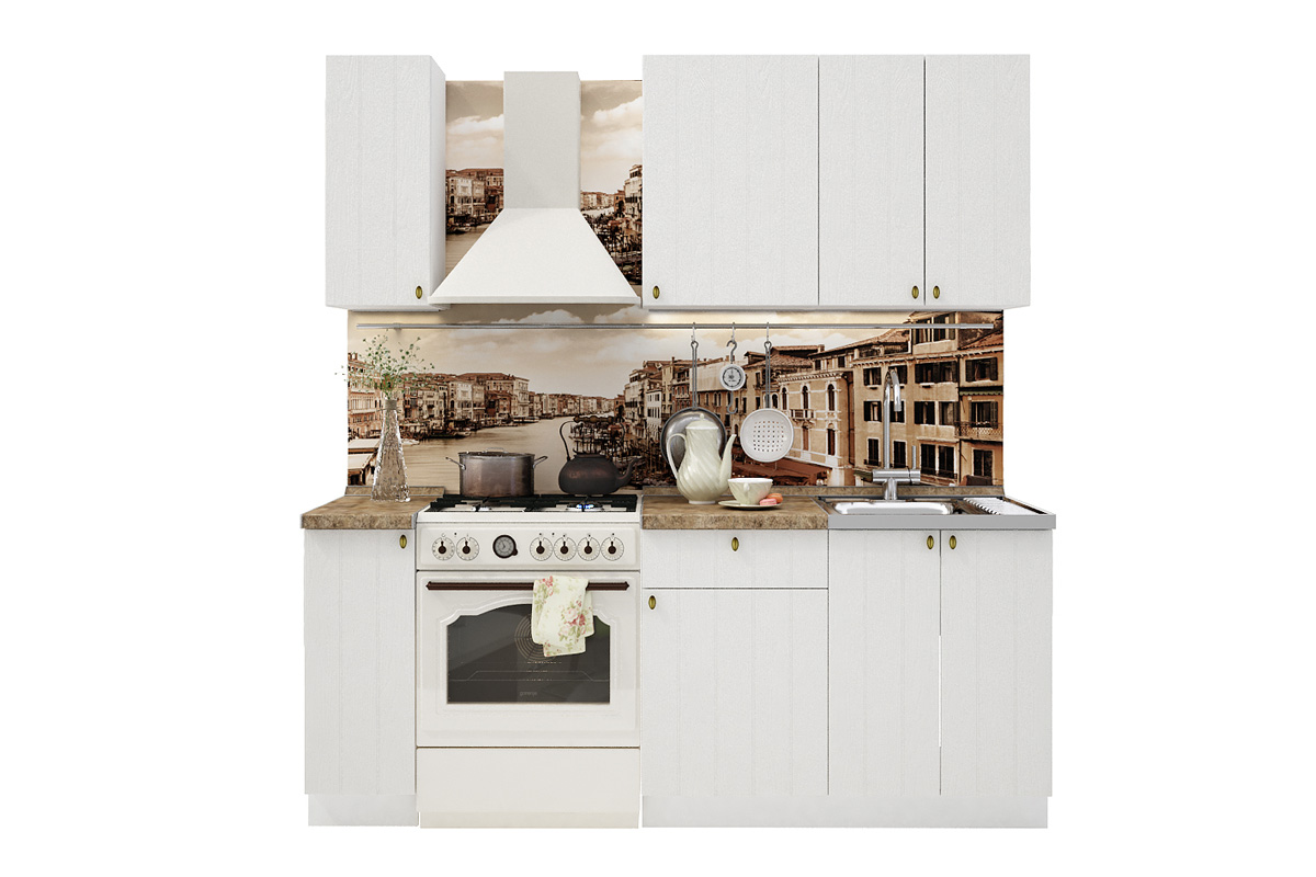 PROVENSAL 140 kuchynská zostava biele drevo