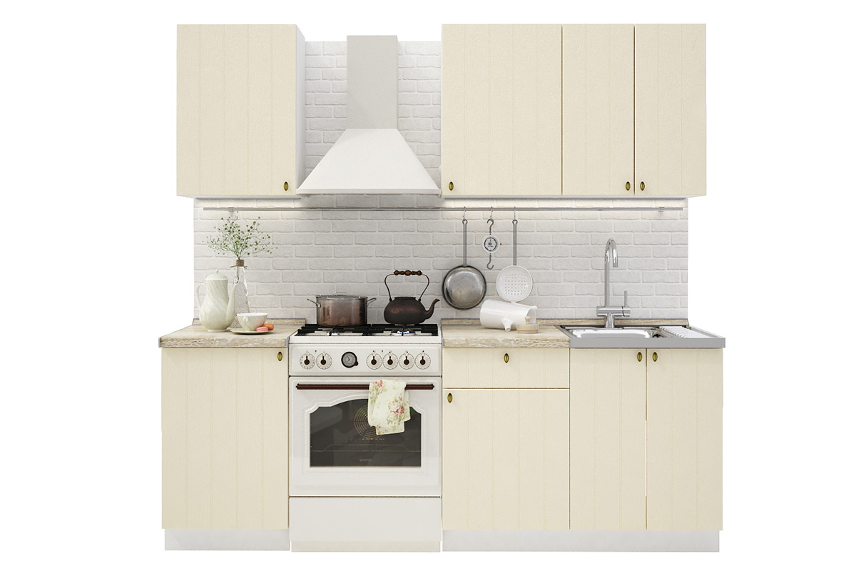 PROVENSAL 160 kuchynská zostava, vanilka