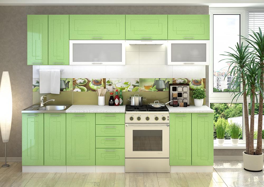 VEGAS kuchynská linka 260 zelený metalic