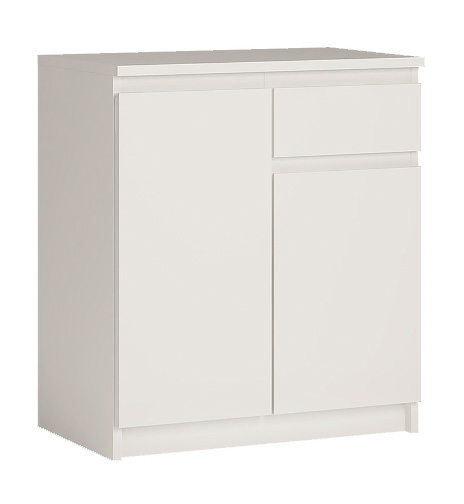 ARMANDIO komoda 2D1S, alpská biela