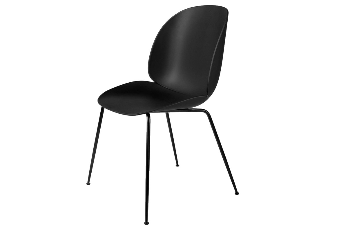 Plastová stolička BUGATI, čierna
