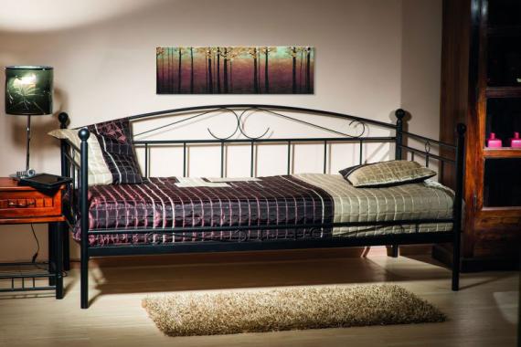 Kovová posteľ ANKA, čierna