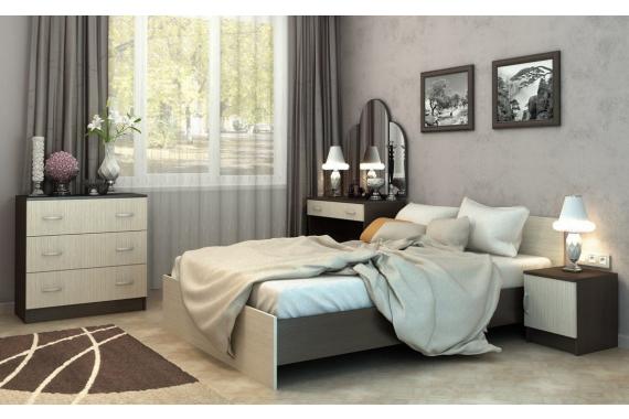 BASKA posteľ 90x200 KP-555, dub belfort