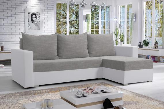 MOHITO rohová sedačka, Berlin10/biela eco – pravý roh