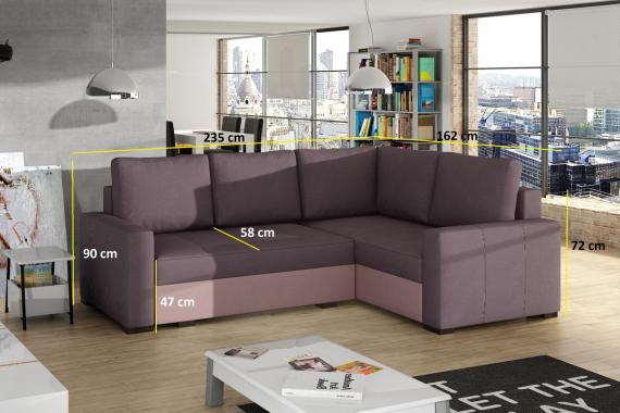 LEVICA rohová sedačka Berlin01/ Soft 11 ľavá