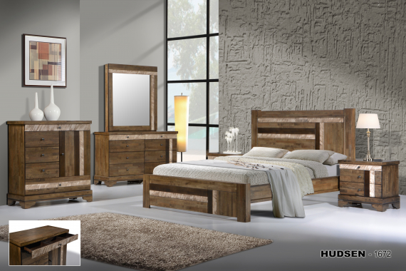 » Manželská posteľ z masívu 180 HUDSEN 1672, VER-0010