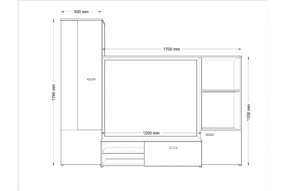 Lacná obývacia stena HUGI DS/B