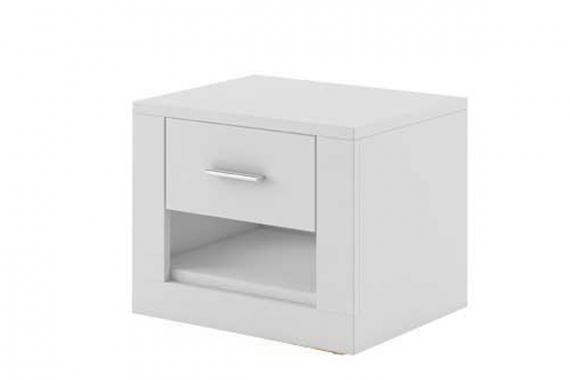 IDEAL nočný stolík 07, biela