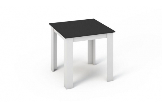 KONGI jedálenský stôl 80, biela/čierna