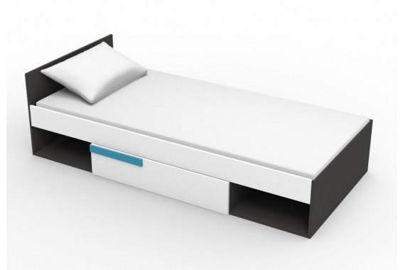 BOBY posteľ, modrá