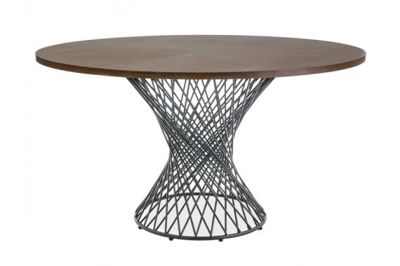 PORTLAND jedálenský stôl, orech/čierna