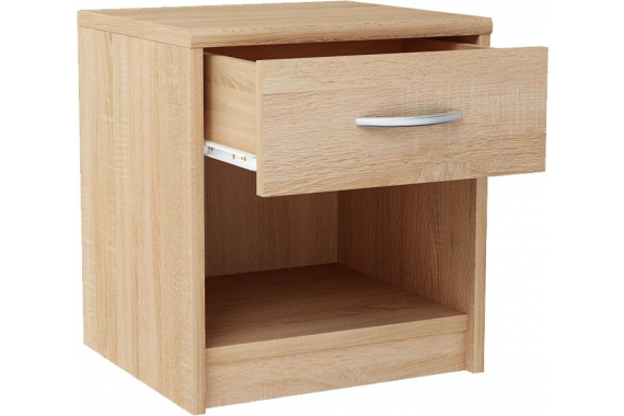 MAREK 026 nočný stolík so zásuvkou, dub sonoma
