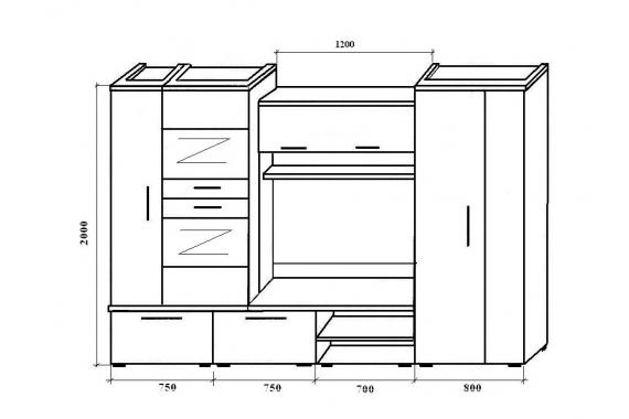 Vysoká obývacia stena INFINITY