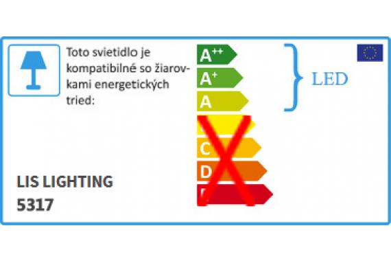 LARGO stropná/nástenná lampa LIS 5317PL
