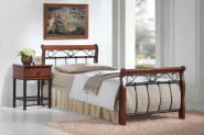 BENÁTKY posteľ 90x200 cm, antická čerešňa/čierna