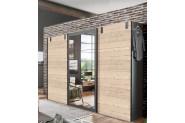 MALLA 796 skriňa s posuvnými dverami a zrkadlom strieborná jedľa