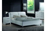 MIDO čalúnená posteľ 160x200 cm, biela