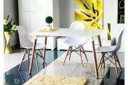 MOLAN obdĺžnikový jedálenský stôl, buk/biela