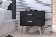 Nočný stolík KAJA 2D čierny