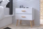 Nočný stolík KAJA 2D biely