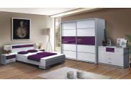 DUBLIN spálňa, biela/fialová