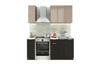 TARRA 120 kuchynská zostava, capucino/wenge 3D