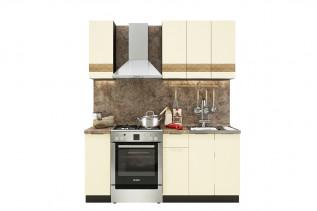 TARRA 120 kuchynská zostava, vanilka 3D pás/wenge