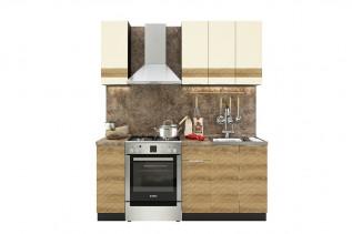 TARRA 120 kuchynská zostava, vanilka 3D pás/smrek karpatský 3D