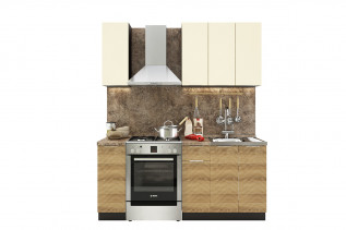 TARRA 120 kuchynská zostava, vanilka/smrek karpatský 3D