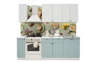 PROVENSAL 170 kuchynská zostava biele drevo/morská modrá