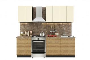 TARRA 180 kuchynská zostava, vanilka/smrek karpatský 3D