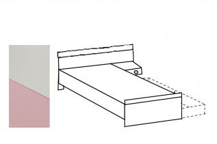 TEORIE 297 jednolôžková posteľ, ružová/biela