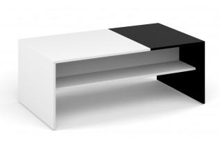 MONAKO konferenčný stolík, biela/čierna