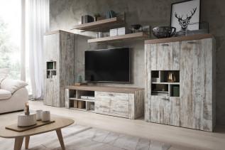 MORNO štýlová obývačka white pine/sonoma trufel