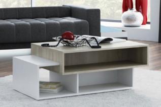 ARDENA konferenčný stolík, biela/dub sonoma