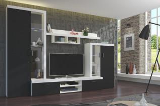 ASTA obývacia stena, čierna/biela