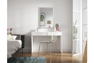 ASTRID biela toaletka so zrkadlom a zásuvkami