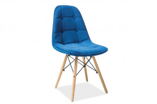 LEXA III jedálenská stolička, buk/modrá