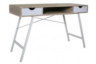 BS-140 pracovný stôl, dub sonoma/biela